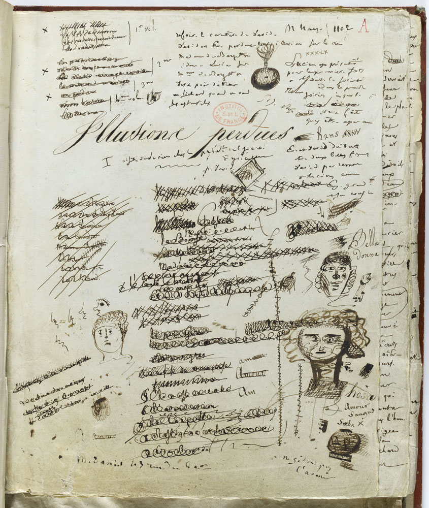 Honoré de Balzac, Les Illusions perdues. Manuscrit autographe. Ms Lov. A 103. © RMN-Grand Palais (Institut de France) / Gérard Blot